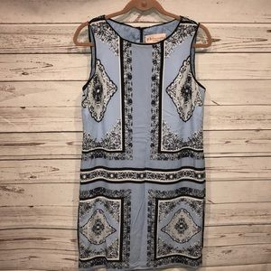 Philosophy Republic clothing blue shift dress sz 8